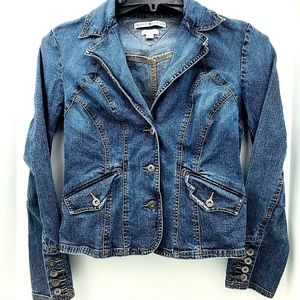 Tommy Hilfiger Jean Jacket Size Medium Stretch
